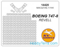 Mask 1/144 for Boeing 747-8, for Revell kit