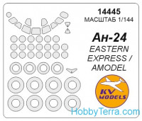Mask 1/144 for Antonov An-24 and wheels masks, for Eastern Express kit