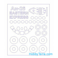 Mask 1/144 for An-30 + wheels masks, for Eastern Express kit