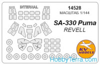 "Mask 1/144 for helicopter SA-330 ""Puma"" + wheels, for Revell kit"
