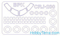 Mask 1/144 for CRJ-100/200 + wheels masks, for BPK Models kit