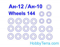 Mask 1/144 wheels for Antonov An-10/An-12