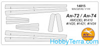 Mask 1/144 for Antonov An-74, for Amodel kit