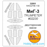 Mask 1/32 for MIG-3 (double sided), for Trumpeter kit