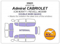 Mask 1/35 for Opel Admiral cabriolet, double sided, (ICM/Revell) kits
