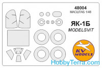Mask 1/48 for Yak-1B + wheels masks, for Modelsvit kit