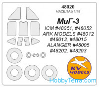 Mask 1/48 for MIG-3, for ARK Models kit