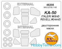 Mask 1/48 for KA-50 (Double sided) and wheels masks, for Italeri kit