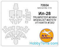 Mask 1/72 for Ilyushin IL-28, for Trumpeter kit