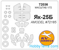 Mask 1/72 for Yak-25B and wheels masks, for Amodel kit