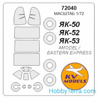 Mask for Yak-52 and wheels masks, for Amodel kit