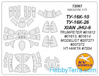 Mask 1/72 for Tu-16, for Trumpeter kit