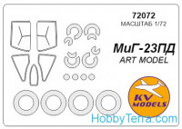 Mask 1/72 for MiG-23PD + wheels, for ART Model kit
