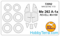 Mask 1/72 for Me-262A, for Revell kit