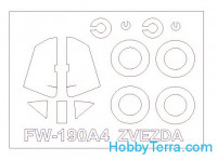 Mask 1/72 for Fw-190A4 and wheels masks, for Zvezda kit