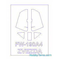 Mask 1/72 for Fw-190A4, for Zvezda kit
