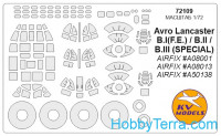 Mask 1/72 for Avro Lancaster B.III (Special) the Dambusters / B.I(F.E.) B.III, for Airfix kit
