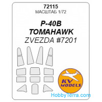 Mask 1/72 for P-40 B Tomahawk, for Zvezda kit