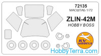 Mask for Zlin-42M (Hobby Boss)
