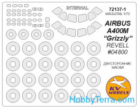 "Mask 1/72 for Airbus A 400M ""Grizzly"" - Double sided + wheels masks, for Revell kit"