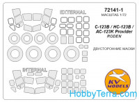 Mask 1/72 for C-123 Provider and wheels masks, for Roden kit