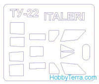 Mask 1/72 for Tupolev Tu-22, for Italeri kit