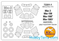 Mask 1/72 for Mi-1M / Mi-1MG / Mi-1MU / Mi-3 + wheels masks (Double Sided), for Amodel kit