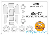 Mask 1/72 for Mil Mi-28 and wheels masks, for Modelist kit