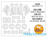 Mask 1/72 for Kamov Ka-25 and wheels masks, for Airfix kit