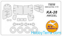 Mask 1/72 for helicopter Ka-28 + wheels, for Amodel kit
