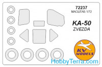 Mask 1/72 for Kamov Ka-50 and wheels masks, for Zvezda kit