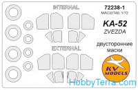 Mask 1/72 for Kamov Ka-52 + wheels, for Zvezda kit