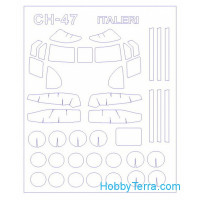 "Mask 1/72 for CH-47 / MH-47 ""Chinook"", for Italeri kit"