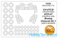 Mask 1/72 for CH-47C/D/ACH-47/Boeing Chinook HC.1, for Airfix/Italeri kit