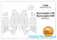 Mask 1/72 for Eurocopter EC-135, for Revell kit