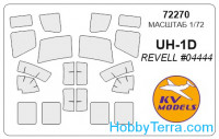 Mask 1/72 for UH-1D, for Revell kit