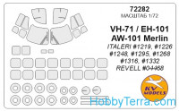 Mask 1/72 for EH-101 and wheels masks, for Italeri kit