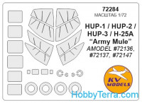 Mask 1/72 for HUP-1 / HUP-2 / HUP-3 / H-25 + wheels, for Amodel kit