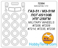 Mask 1/72 for Gaz-51, for Military Wheels kit
