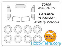 "Mask 1/72 for Gaz-M20 ""Pobeda"", for Military Wheels kit"