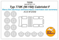 Mask 1/72 for Typ 770K (W-150) Cabriolet F + wheels masks (ACE)