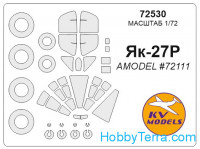 Mask 1/72 for Yak-27R and wheels masks, for Amodel kit