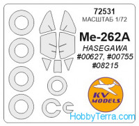 Mask 1/72 for Me-262A + wheels, for Hasegawa kit