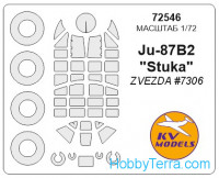 Mask 1/72 for Ju-87B2 and wheels masks, for Zvezda kit
