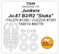 Mask 1/72 for Junkers Ju-87 B2/R2