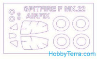 Mask 1/72 for Supermarine Spitfire Mk.22 and wheels masks, for Airfix kit