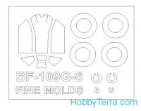 Mask 1/72 for Bf-109 G-6 and wheels masks, for Fine Molds kit