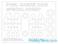 Mask 1/72 for F-86L Sabre Dog (double-sided) and wheels masks, for Special Hobby kit