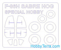 Mask 1/72 for F-86H Sabre Hog and wheels masks, for Special Hobby kit