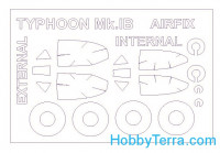 Mask 1/72 for Hawker Typhoon Mk.IB (double sided) and wheels masks, for Airfix kit